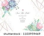 polygonal floral vector design... | Shutterstock .eps vector #1103959469