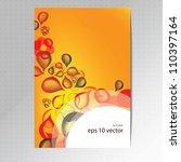 orange cover design | Shutterstock .eps vector #110397164