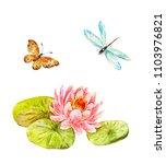 feng shui watercolor symbols ... | Shutterstock . vector #1103976821