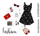 a set of stylish women's... | Shutterstock .eps vector #1103984687