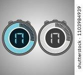 electronic digital stopwatch.... | Shutterstock .eps vector #1103984939