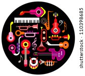 musical instruments   round... | Shutterstock .eps vector #110398685