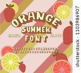 summer citrus colorful font.... | Shutterstock .eps vector #1103986907