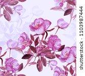 seamless patter flowering... | Shutterstock . vector #1103987444