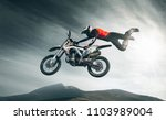 moto freestyle. extreme   Shutterstock . vector #1103989004