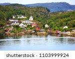 beautiful nature norway natural ... | Shutterstock . vector #1103999924