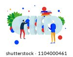 create cure. the process of... | Shutterstock .eps vector #1104000461