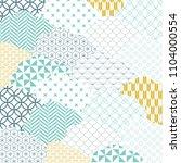 japanese pattern vector. cloud... | Shutterstock .eps vector #1104000554