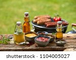 selection of dressings  sauces  ... | Shutterstock . vector #1104005027