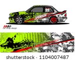 race car livery graphic vector... | Shutterstock .eps vector #1104007487