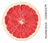 Slice Of Grapefruit Isolated O...