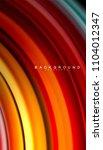 abstract wave lines fluid... | Shutterstock .eps vector #1104012347