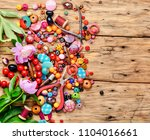 beads  colorful beads for... | Shutterstock . vector #1104016661