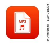 file mp3 icon digital red for... | Shutterstock . vector #1104018305