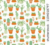 cacti and succulents are... | Shutterstock .eps vector #1104018797