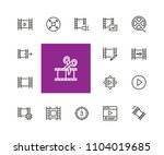 filmstrip icons. set of  line... | Shutterstock .eps vector #1104019685