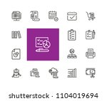 documents icons. set of  line... | Shutterstock .eps vector #1104019694