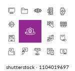 discovery icons. set of  line... | Shutterstock .eps vector #1104019697