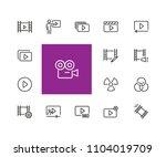 cinema icons. set of  line... | Shutterstock .eps vector #1104019709