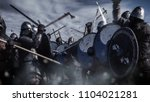 Large Battle Between Medieval...