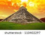 amazing sky over kukulkan... | Shutterstock . vector #110402297