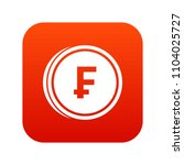 franc coins icon digital red... | Shutterstock . vector #1104025727