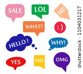 speech bubble icon set with text | Shutterstock .eps vector #1104031217