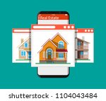 mobile smart phone with rent... | Shutterstock .eps vector #1104043484