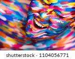 portrait of the bright... | Shutterstock . vector #1104056771