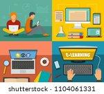 e learning online training... | Shutterstock . vector #1104061331