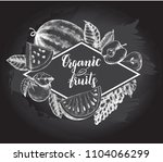 background with ink hand drawn... | Shutterstock .eps vector #1104066299
