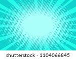 pop art turquoise background.... | Shutterstock .eps vector #1104066845
