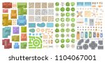vector set for a cityscape. top ... | Shutterstock .eps vector #1104067001