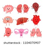 cute smiling happy human... | Shutterstock . vector #1104070907
