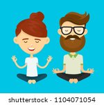 woman girl and hipster young... | Shutterstock . vector #1104071054