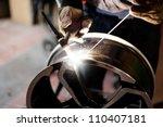 welding alloy rim. alloy wheel... | Shutterstock . vector #110407181