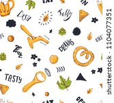 beer seamless pattern with... | Shutterstock .eps vector #1104077351