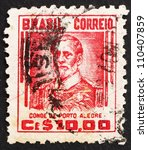 Small photo of BRAZIL - CIRCA 1941: a stamp printed in the Brazil shows Manuel Marques de Sousa, Count of Porto Alegre, Soldier, Politician, Abolitionist and Monarchist, circa 1941