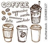 vector illustration of frappe... | Shutterstock .eps vector #1104085127