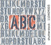 vintage letterpress printing... | Shutterstock .eps vector #110409005