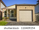 suburban small bungalow house... | Shutterstock . vector #110409254