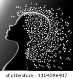 music in the head. | Shutterstock .eps vector #1104096407