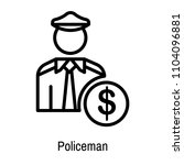 policeman icon vector isolated... | Shutterstock .eps vector #1104096881