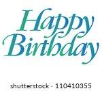 happy birthday new vector... | Shutterstock .eps vector #110410355