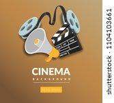 movie film banner design... | Shutterstock .eps vector #1104103661