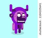 werewolf cartoon character... | Shutterstock .eps vector #1104105641