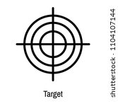 target icon vector isolated on... | Shutterstock .eps vector #1104107144
