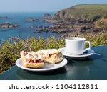 cornish cream tea at lizard... | Shutterstock . vector #1104112811