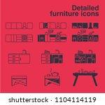vector illustration of outline...   Shutterstock .eps vector #1104114119