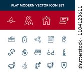 modern  simple vector icon set... | Shutterstock .eps vector #1104123611